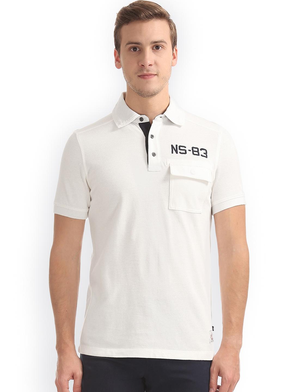 b9b3fa5ddd947 Buy Nautica Men White Solid Polo Collar Slim Fit T Shirt - Tshirts ...