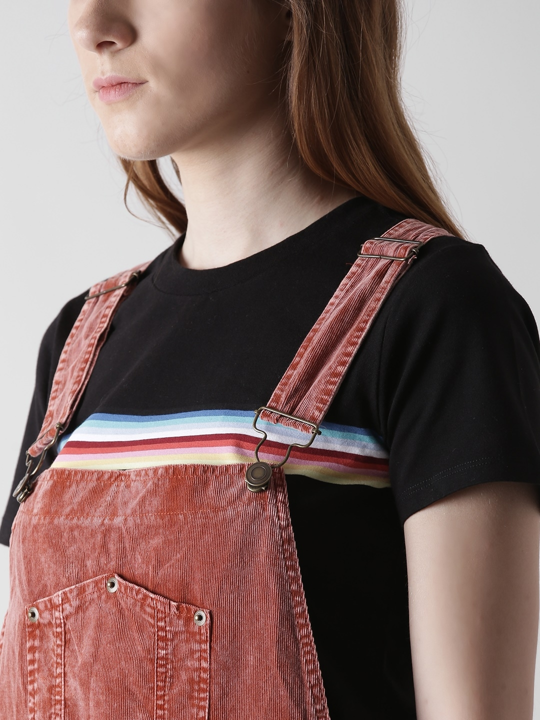 bbf838a8af Buy FOREVER 21 Rust Orange Corduroy Dungarees - Dungarees for Women ...