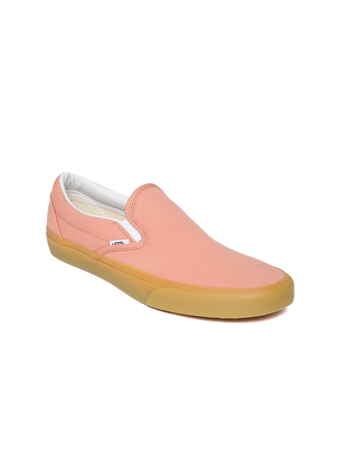 09704b460d Buy Vans Unisex Peach Coloured Classic Slip On Sneakers - Casual ...