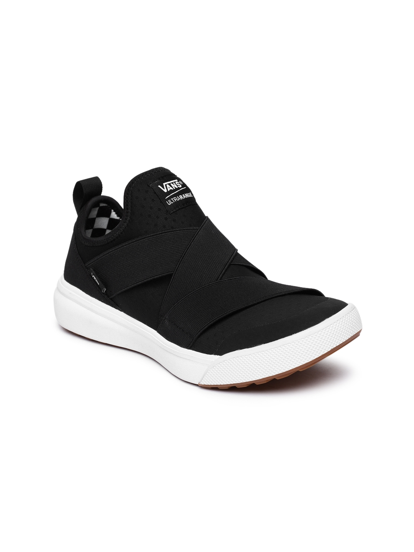 ae3c739a67 Buy Vans Unisex Black Solid Mid Top UltraRange Gore Slip On Sneakers ...