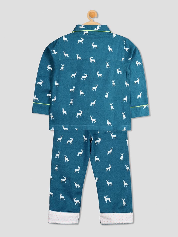 b2b2aedd9f5 Buy Cherry Crumble Unisex Teal Printed Night Suit WS NSUIT 1330 ...