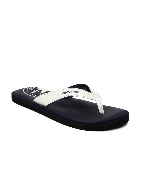 8218a3be5bf3 Buy Converse Men White   Navy Blue Printed Thong Flip Flops - Flip ...