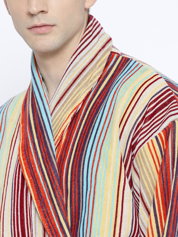 6e36f2cfc0 Buy CHRISTY Unisex Multicoloured Striped Bathrobe 1030480 - Bath ...