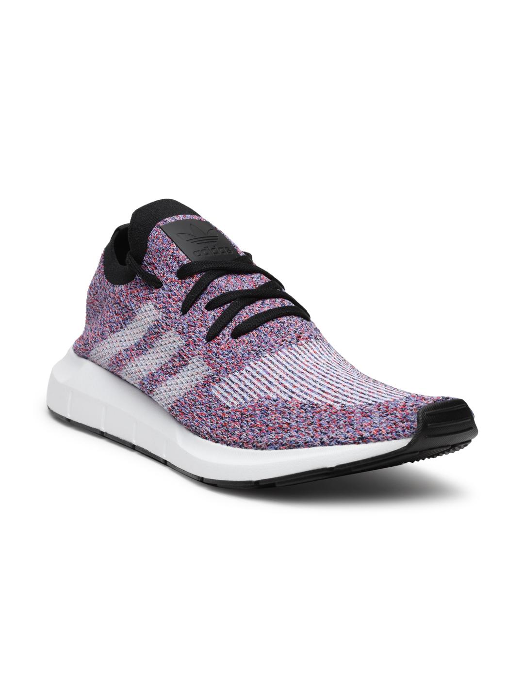 13cde29b2 ADIDAS Originals Men Red   Blue Swift Run PK Woven Design Sneakers