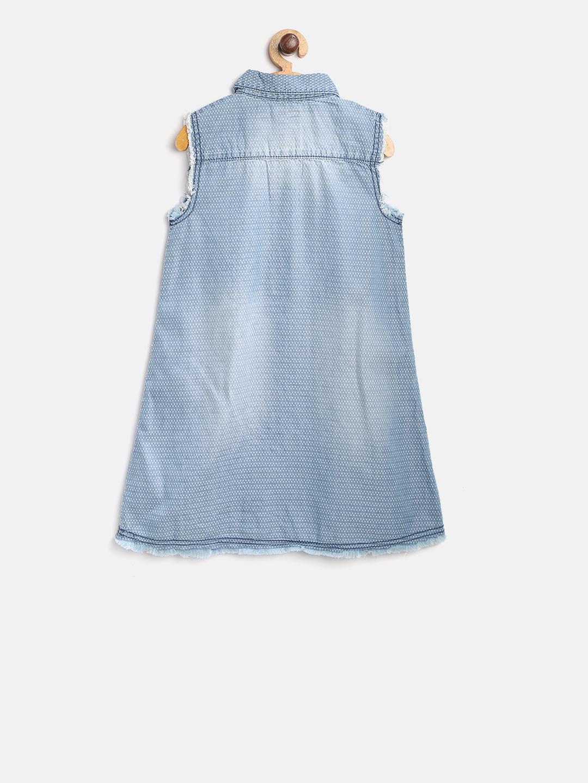 85361234d0a Buy Lee Cooper Girls Blue Self Design Washed Denim A Line Dress ...
