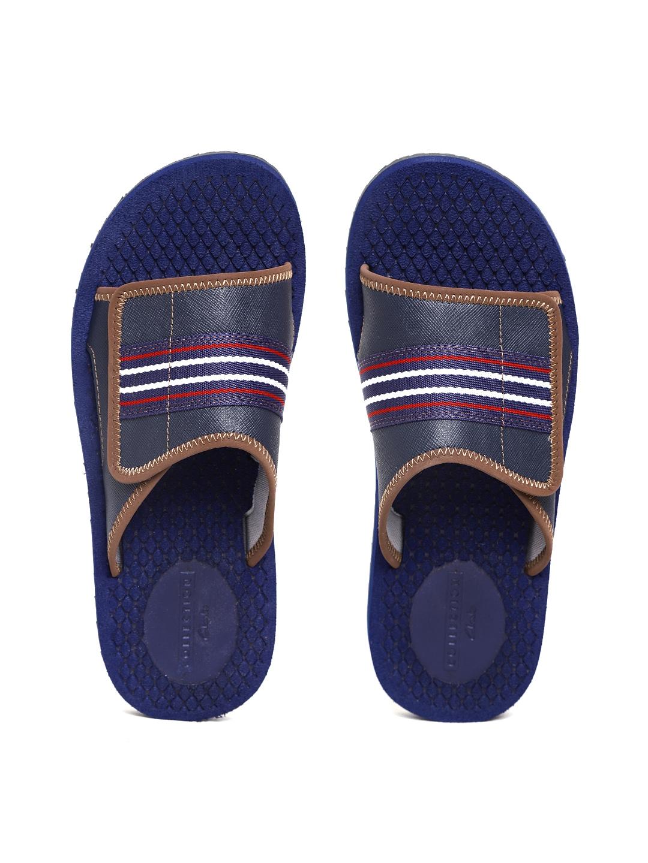 f76341f9ce1 Buy Clarks Men Navy Solid Sliders - Flip Flops for Men 4323478