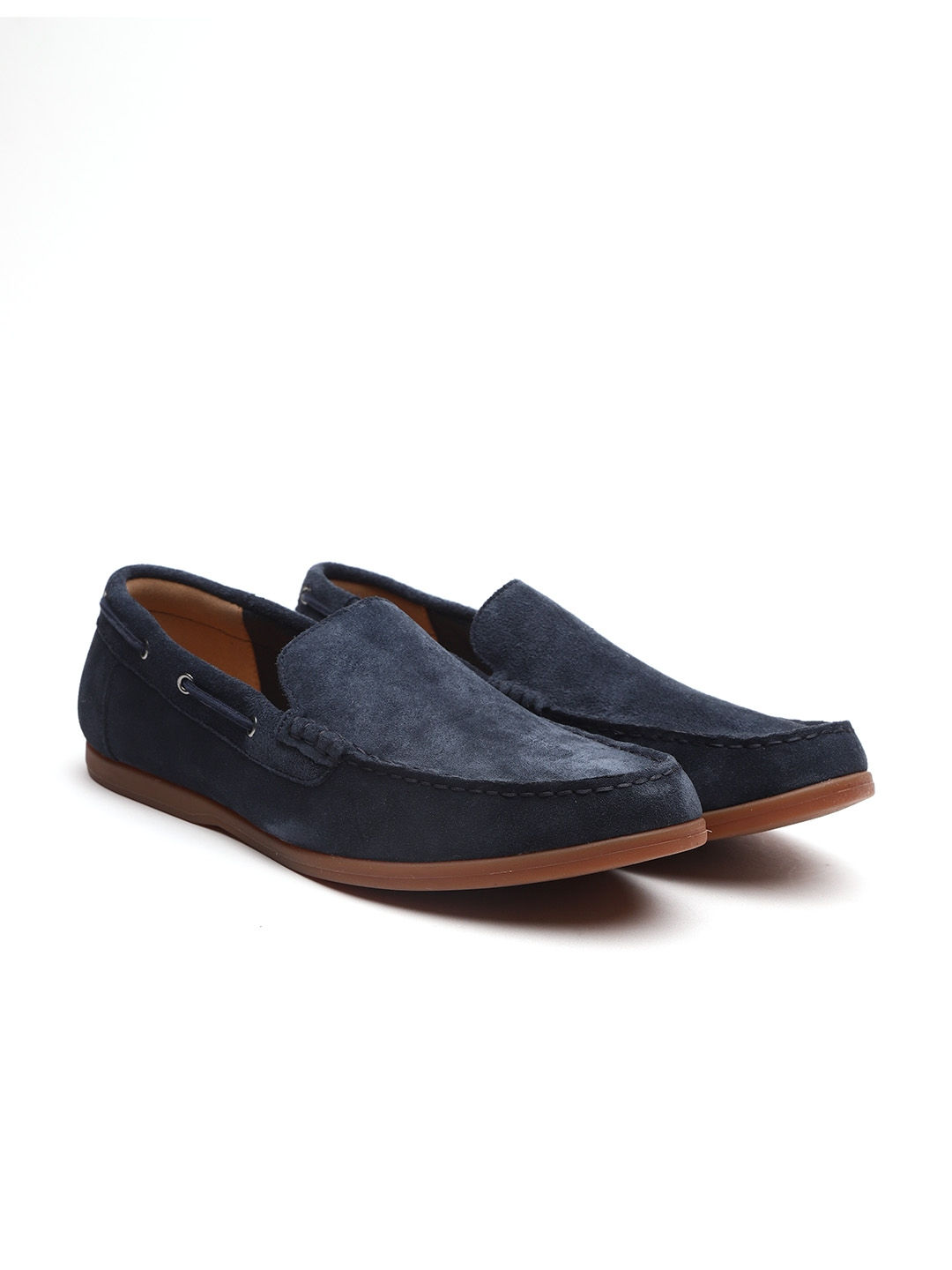 7b98f7bda80 Buy Clarks Men Navy Blue Suede Loafers - Casual Shoes for Men ...