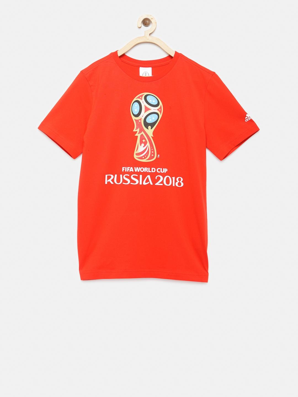 f9a2cf00e56 Buy ADIDAS Boys Red WC Emblem Printed Round Neck T Shirt - Tshirts ...
