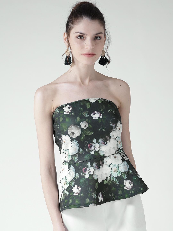 a1cf19fd55d Buy 20Dresses Women Black   Green Floral Print Tube Top - Tops for ...