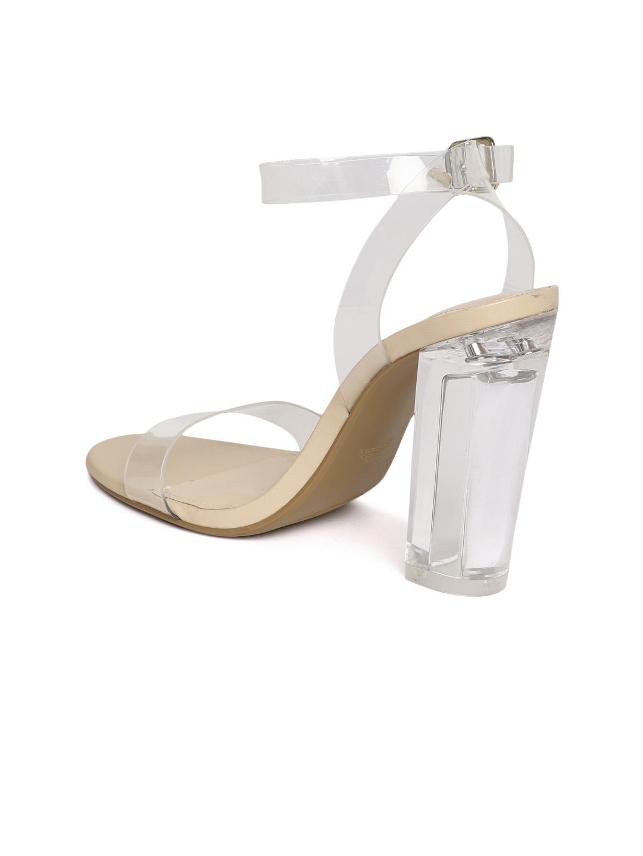 874c7cbb032 Buy FOREVER 21 Women Transparent Solid Block Heels - Heels for Women ...