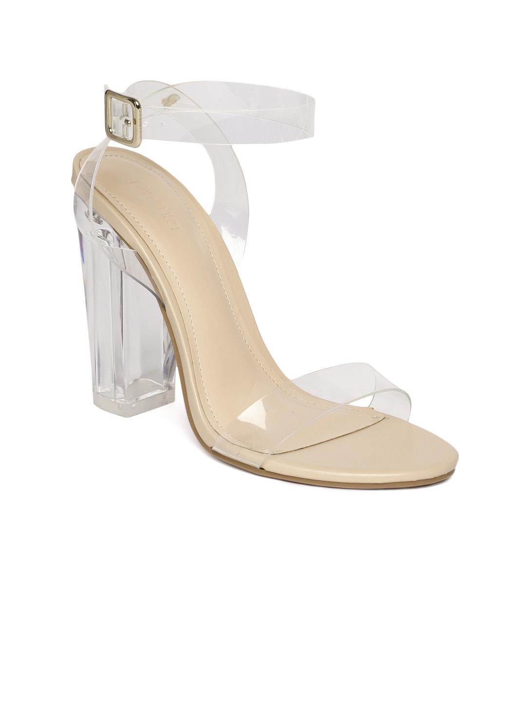 0926dfe3b02 Buy FOREVER 21 Women Transparent Solid Block Heels - Heels for Women ...