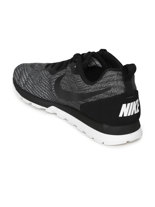 wholesale dealer bc9bb 5d3da Nike Men Black   White MD RUNNER 2 ENG MESH Running Shoes