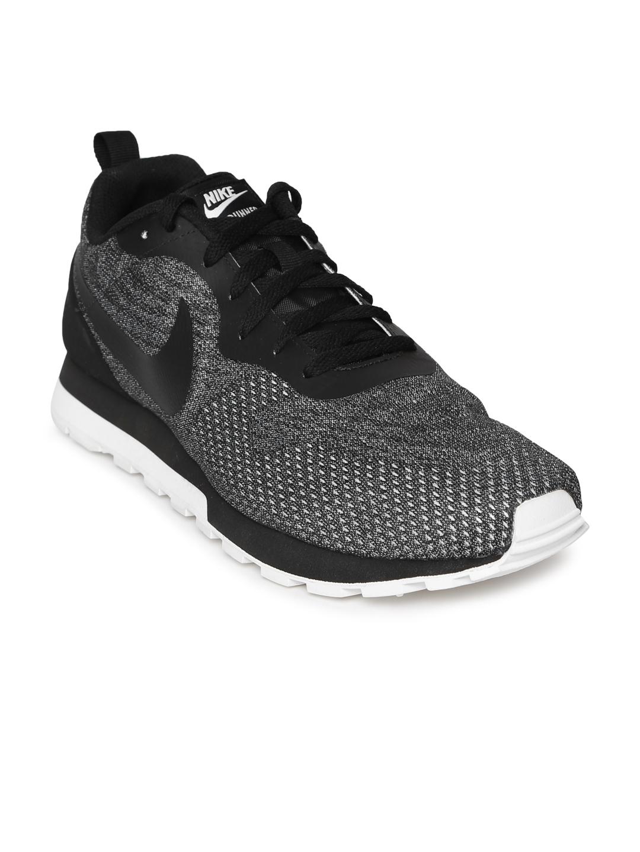 7c3c5e9ea22f6 Buy Nike Men Black   White MD RUNNER 2 ENG MESH Running Shoes ...