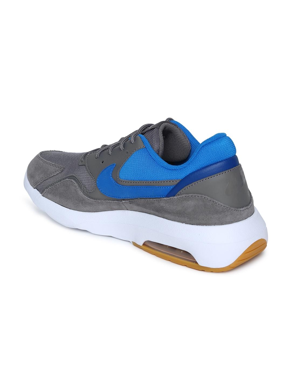 brand new ae400 a266e Nike Men Grey  Blue AIR MAX NOSTALGIC Running Shoes