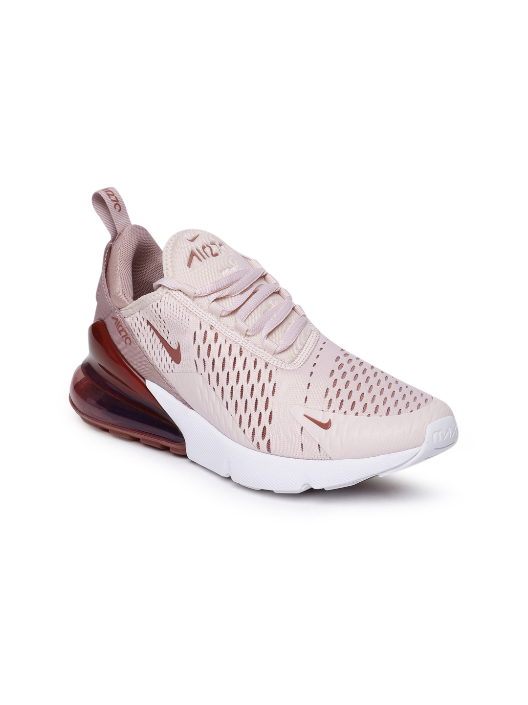 the best attitude db7eb f60eb Nike Women Pink & Burgundy Air Max 270 Sneakers