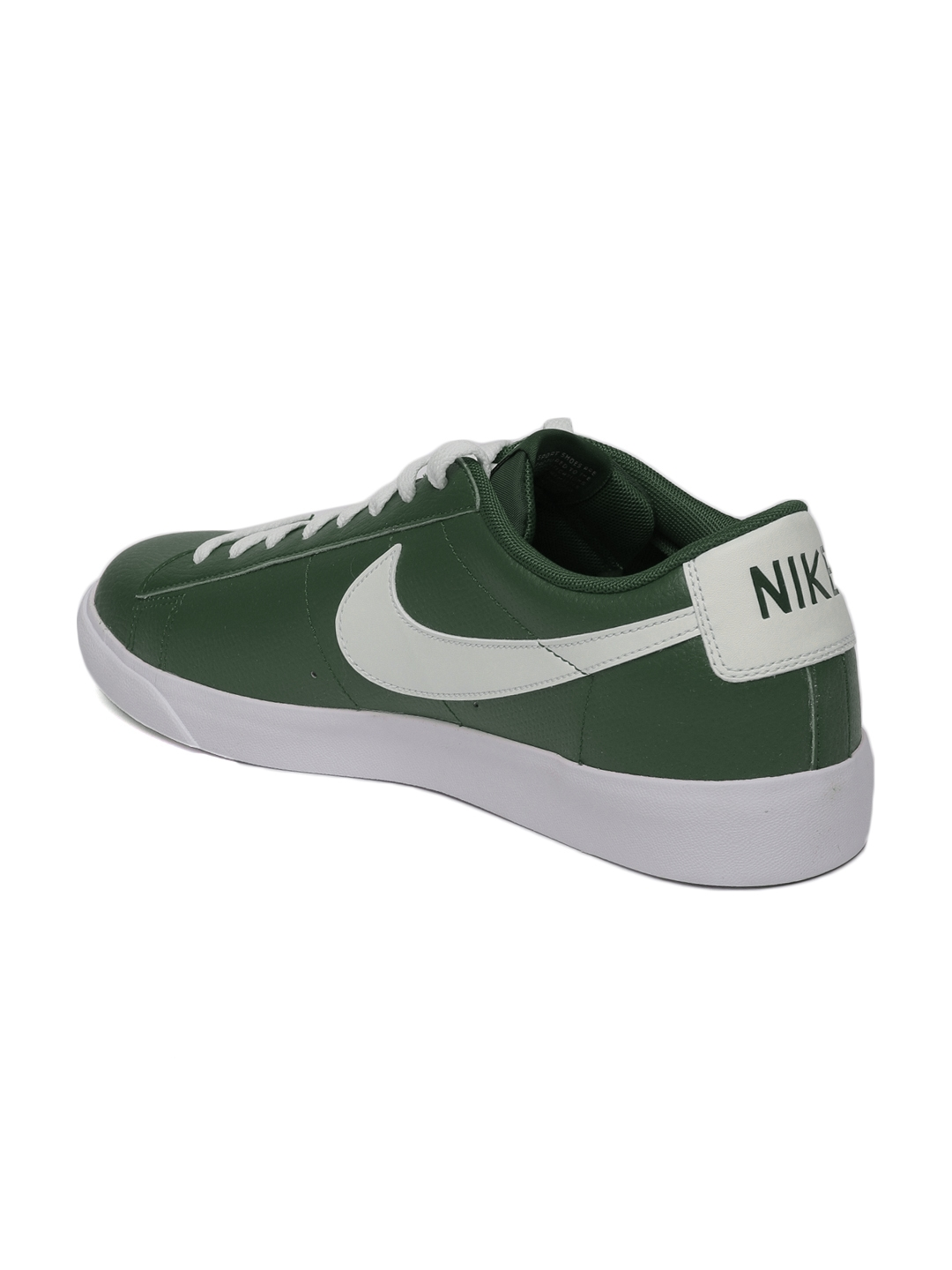newest ac59b 059d0 Nike Men Green Blazer Low Leather Sneakers