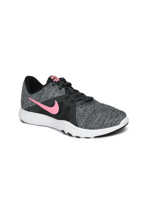 316a2bab17ac8 Buy Nike Women Charcoal Grey   Black Flex TR 8 Training Shoes ...