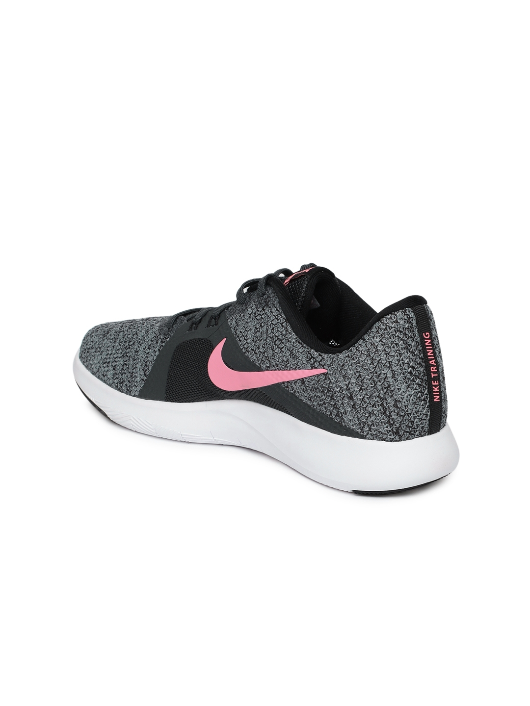 41b4387a3812 Buy Nike Women Charcoal Grey   Black Flex TR 8 Training Shoes ...