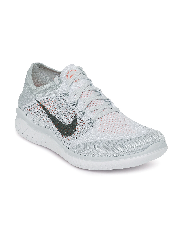 77f049e576a Buy Nike Men White   Grey Free RN Flyknit 2018 Running Shoes ...