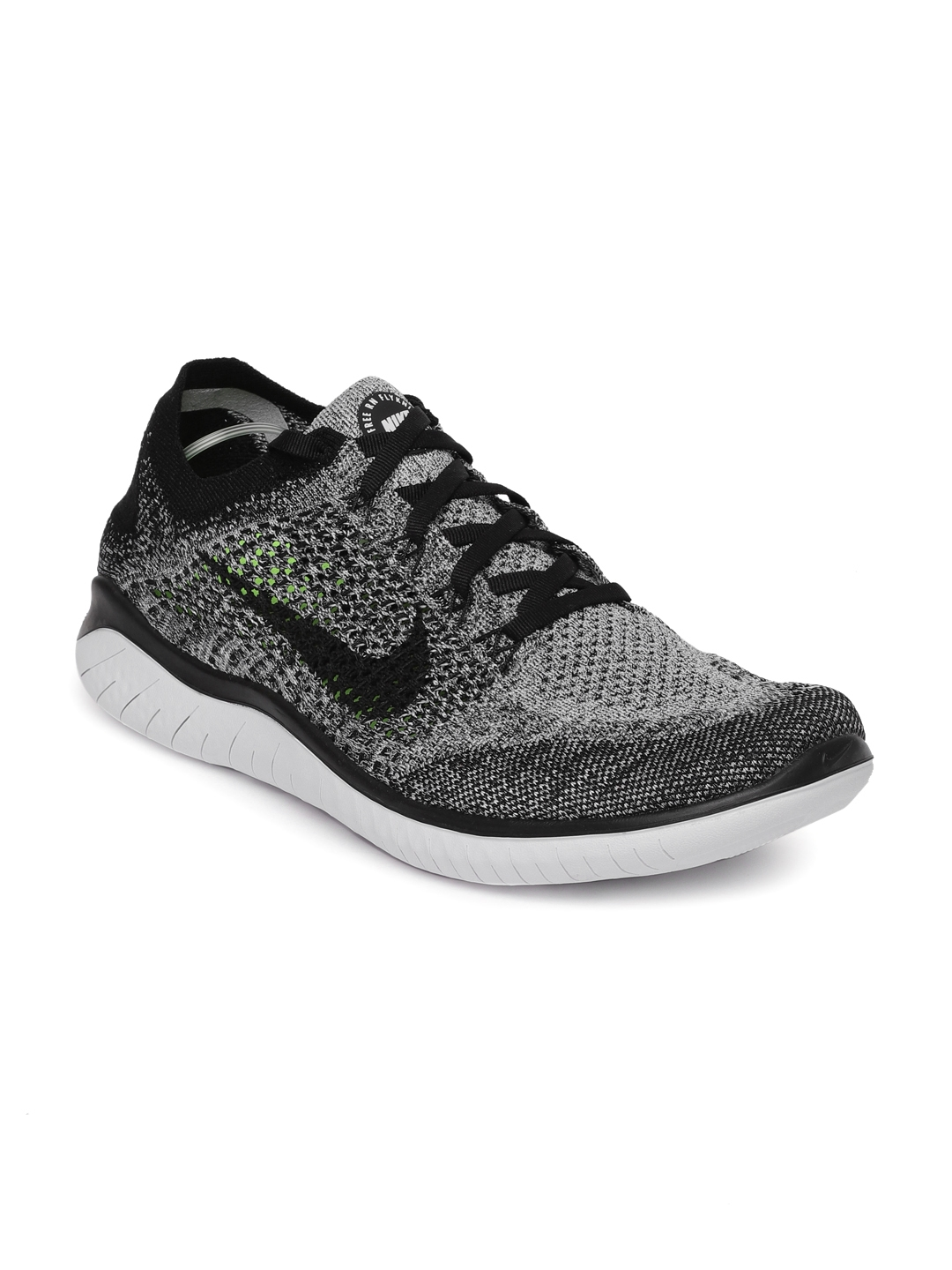 a468d21811d Buy Nike Men White   Black Free RN Flyknit 2018 Running Shoes ...