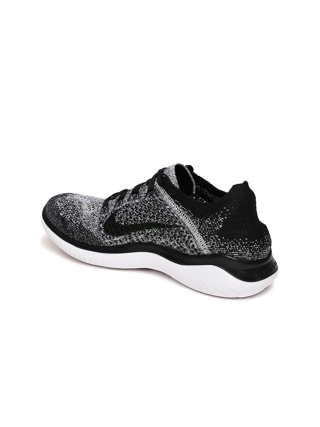 4506b374e6e42 Buy Nike Women Black   White Free RN Flyknit 2018 Running Shoes ...