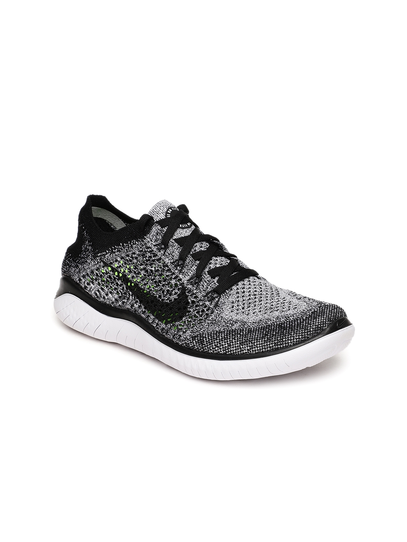 best authentic dcd8c 053db Nike Women Black  White Free RN Flyknit 2018 Running Shoes