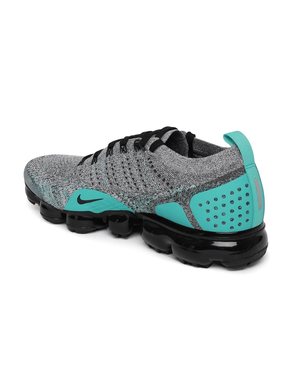194f7a4696a Buy Nike Men Black   Grey Air VaporMax Flyknit 2 Running Shoes ...