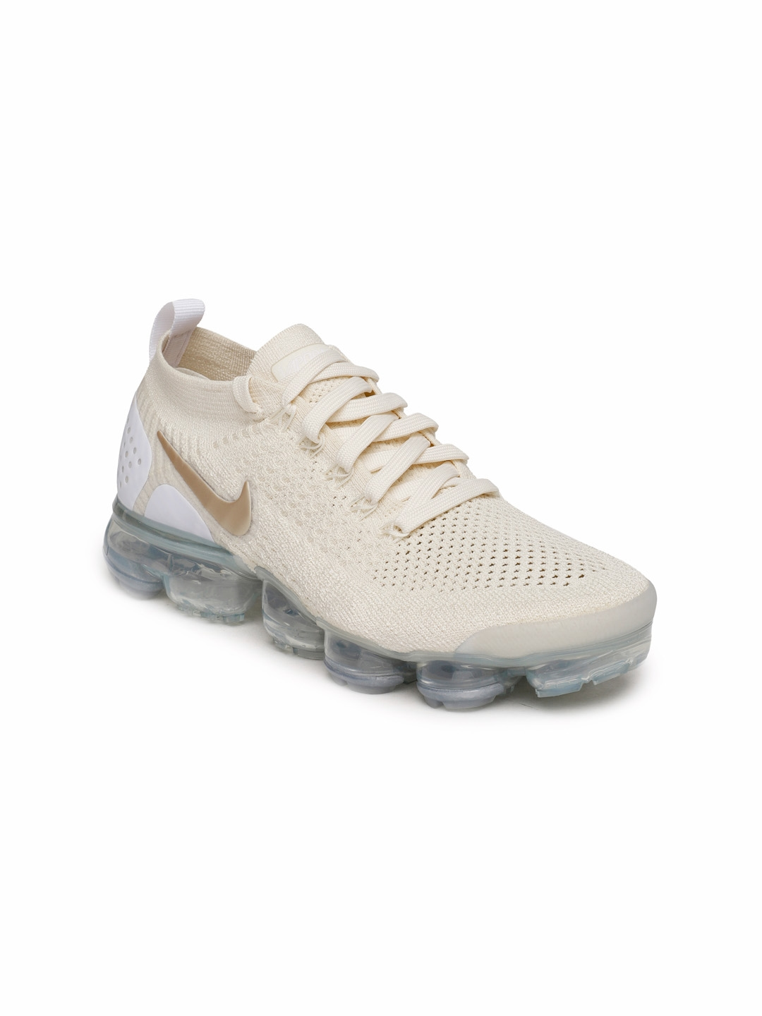 3413eaed9ea02 Buy Nike Women Cream Coloured AIR VAPORMAX FLYKNIT 2 Running Shoes ...