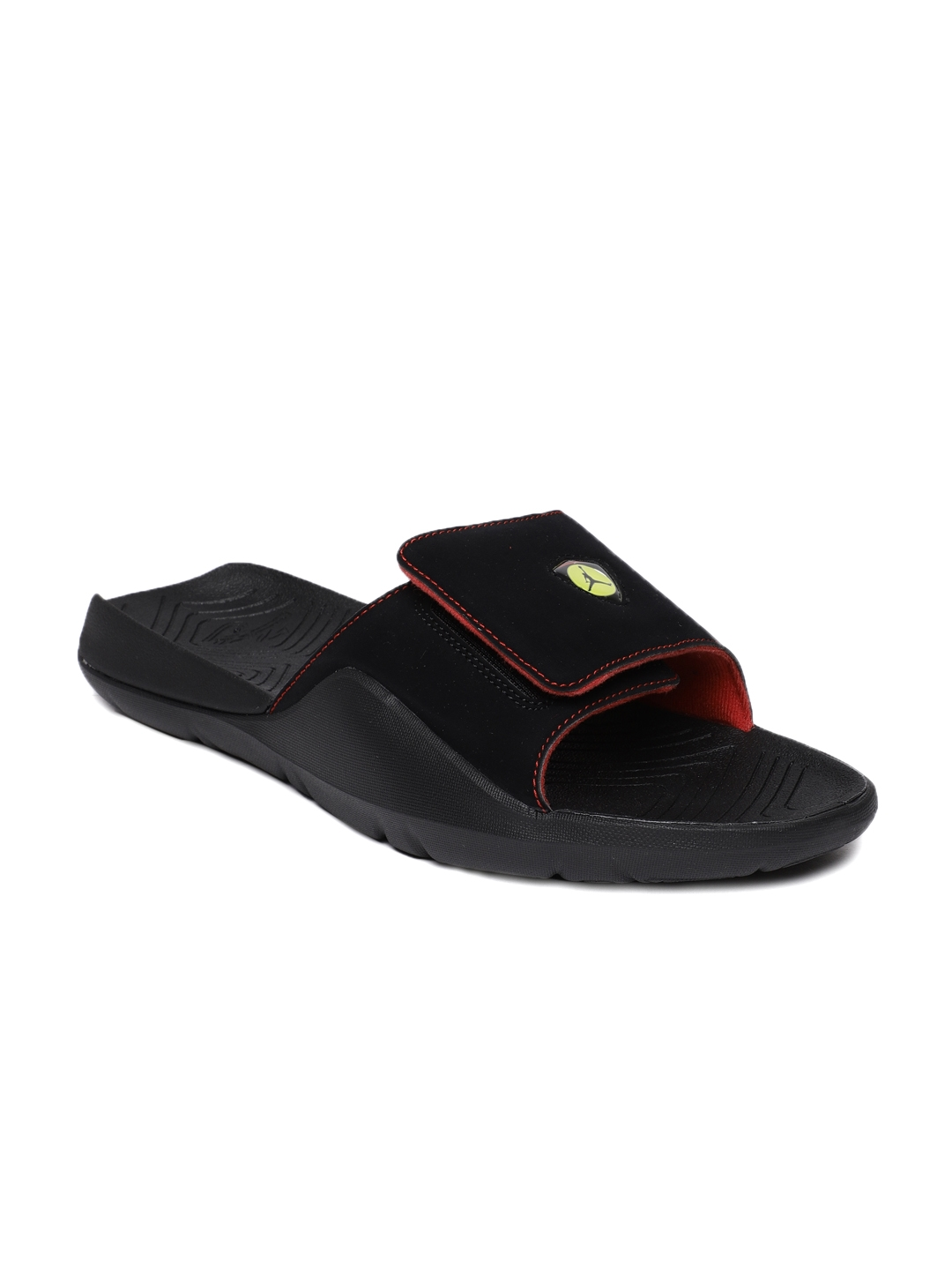 a91b9378c Buy Nike Men Black Jordan Hydro 7 Solid Sliders - Flip Flops for Men ...