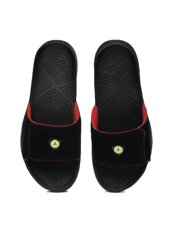 f30414ca79bd Buy Nike Men Black Jordan Hydro 7 Solid Sliders - Flip Flops for Men ...