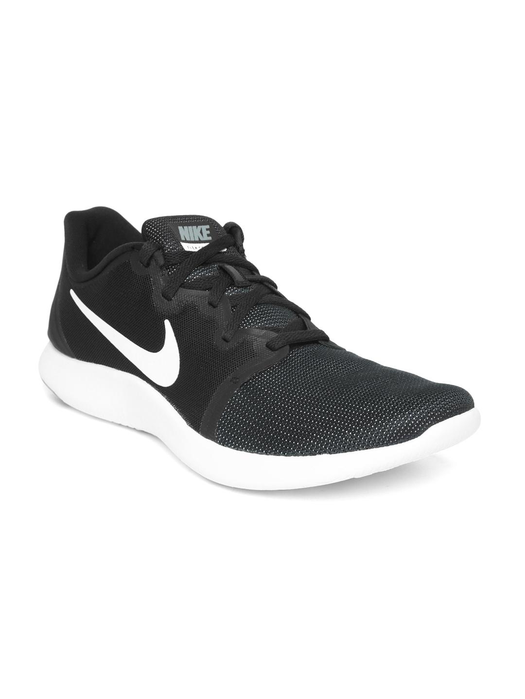 Reciclar Decir Mala fe  Buy Nike Men Black Flex Contact 2 Running Shoes - Sports Shoes for Men  4330965 | Myntra
