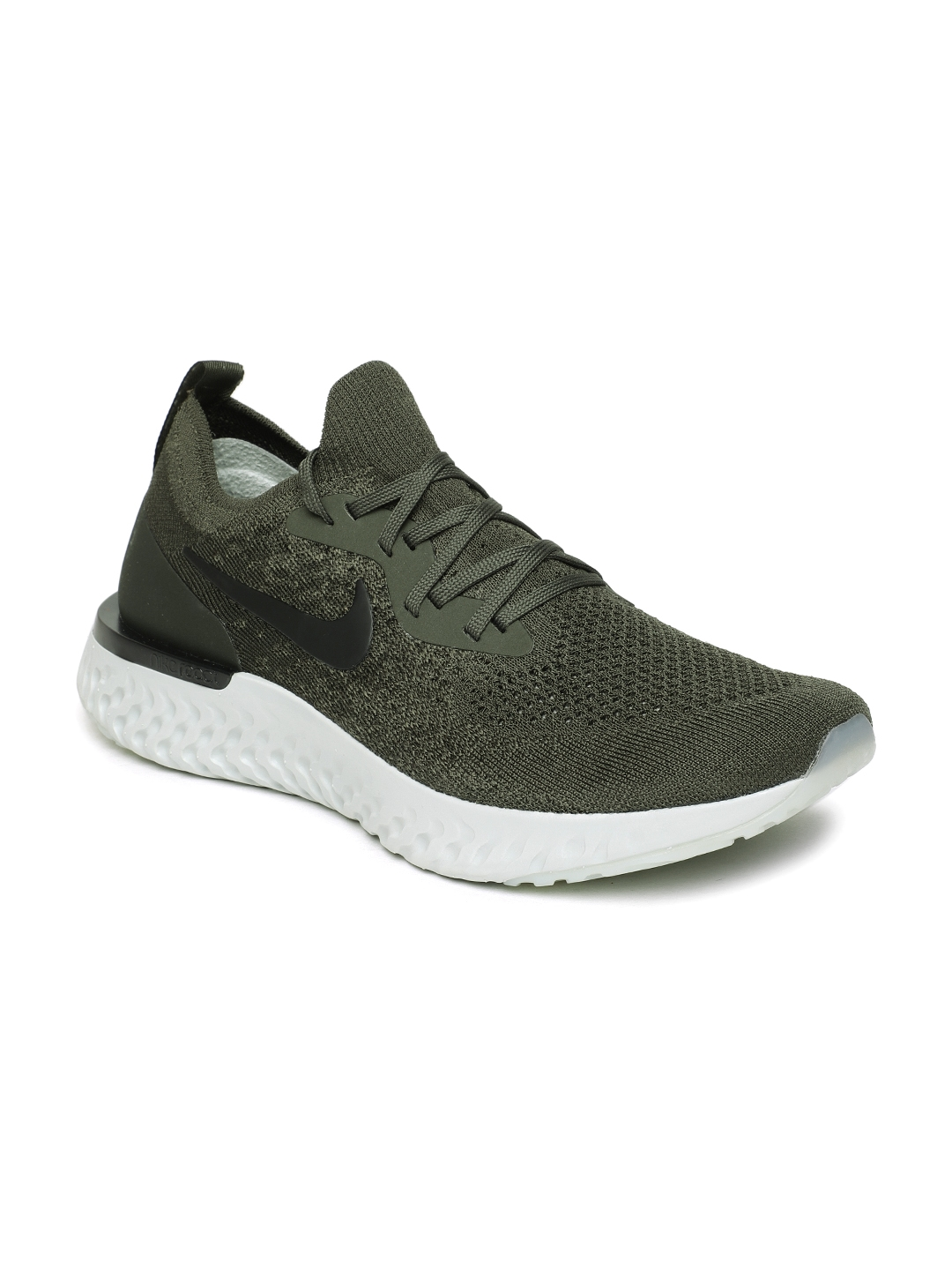 3e7fc3a3c73a4 Buy Nike Men Olive Green Epic React Flyknit Running Shoes - Sports ...