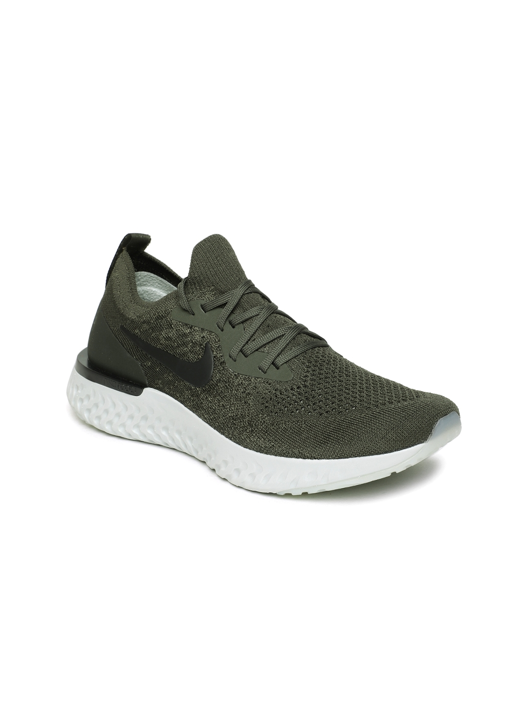 0a26b43dfe6e2 Buy Nike Women Olive Green Epic React Flyknit Running Shoes - Sports ...