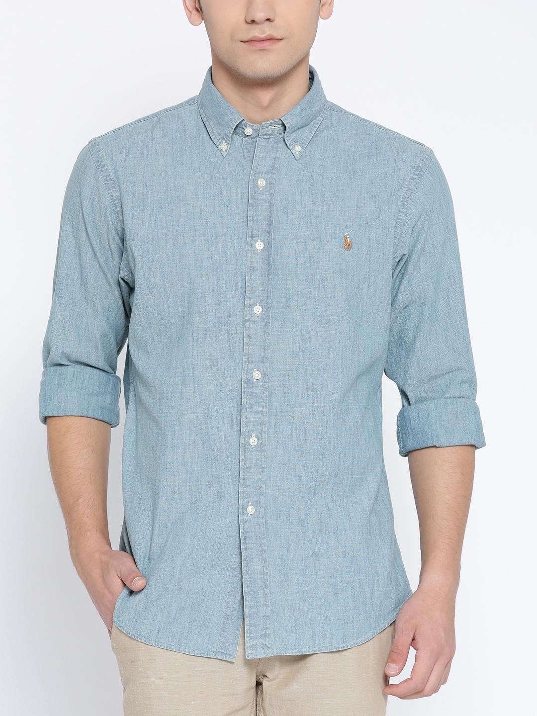 496def08b Buy Polo Ralph Lauren Slim Fit Chambray Shirt - Shirts for Men ...