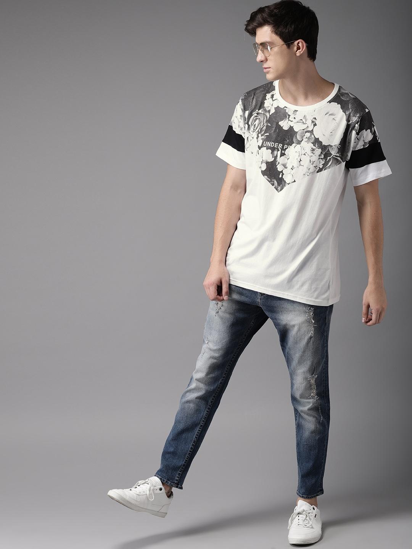 f2547e62d Buy Moda Rapido Men White Printed Round Neck T Shirt - Tshirts for ...