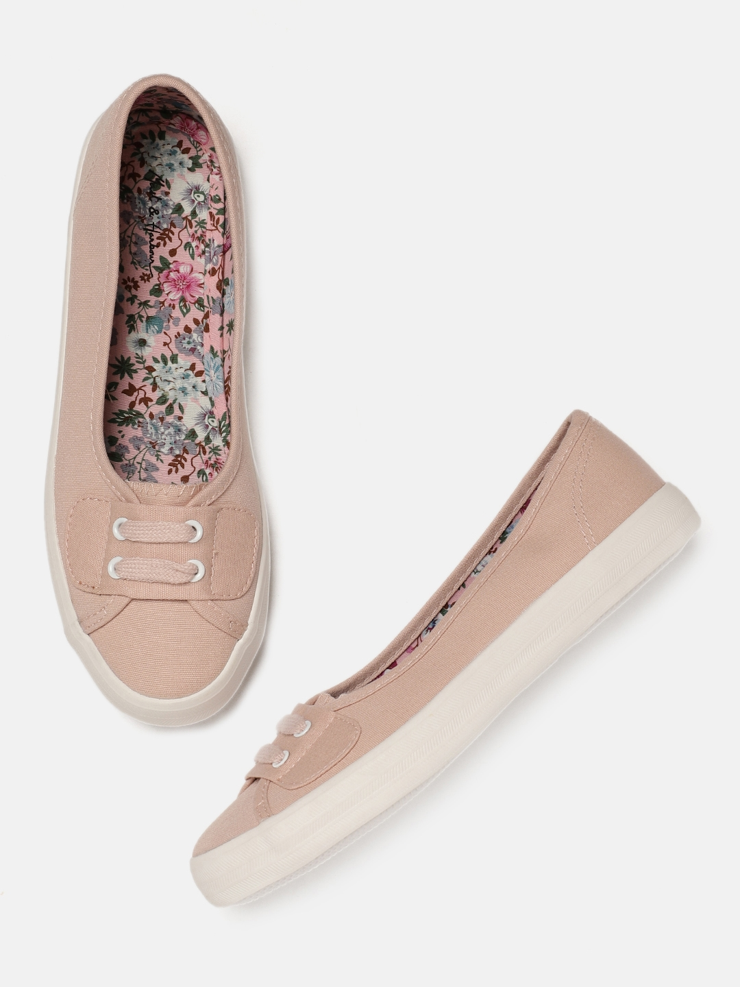 b512982870 Buy Mast & Harbour Women Peach Coloured Slip On Sneakers - Casual ...