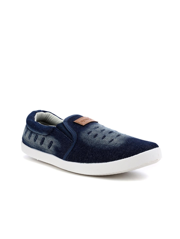 Buy Sparx Men Navy Blue Faded Slip On