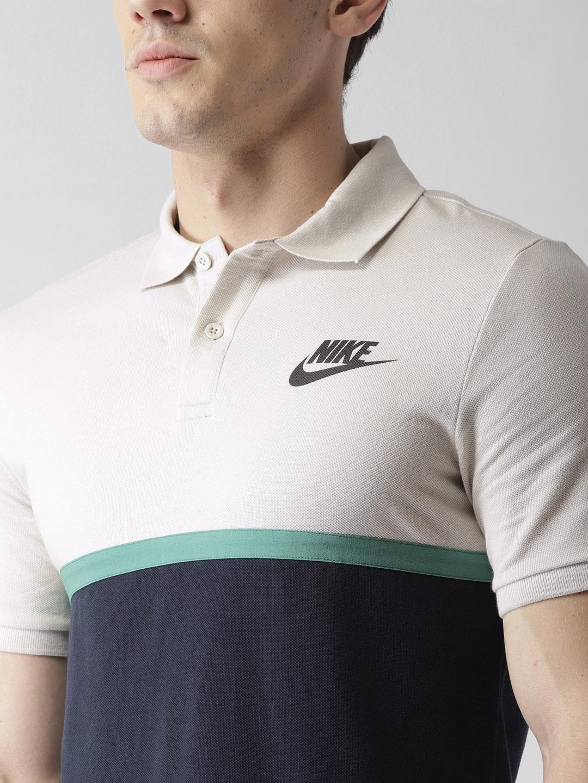 80ad0199 Buy Nike Men Navy AS NSW MATCHUP PQ NVLTY Colourblocked Polo T Shirt ...