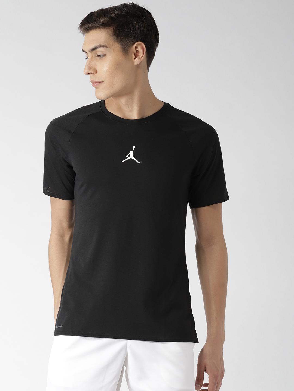 df1817d4b Buy Nike Black Solid 23 ALPHA Dry SS Training T Shirt - Tshirts for ...