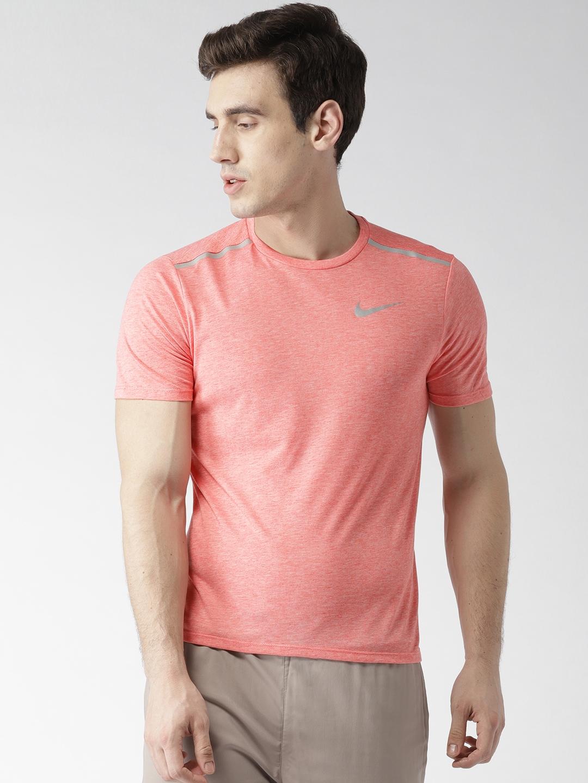 112bea53177bb Buy Nike Men Peach Coloured AS Breathe Rise 365 Running T Shirt ...