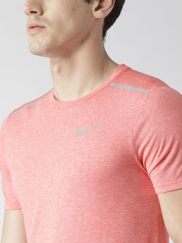 524d53327 Buy Nike Men Peach Coloured AS Breathe Rise 365 Running T Shirt ...
