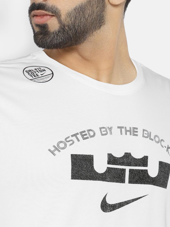 bae223f0 Buy Nike Men White Printed AS M NK LeBron James T Shirt - Tshirts ...