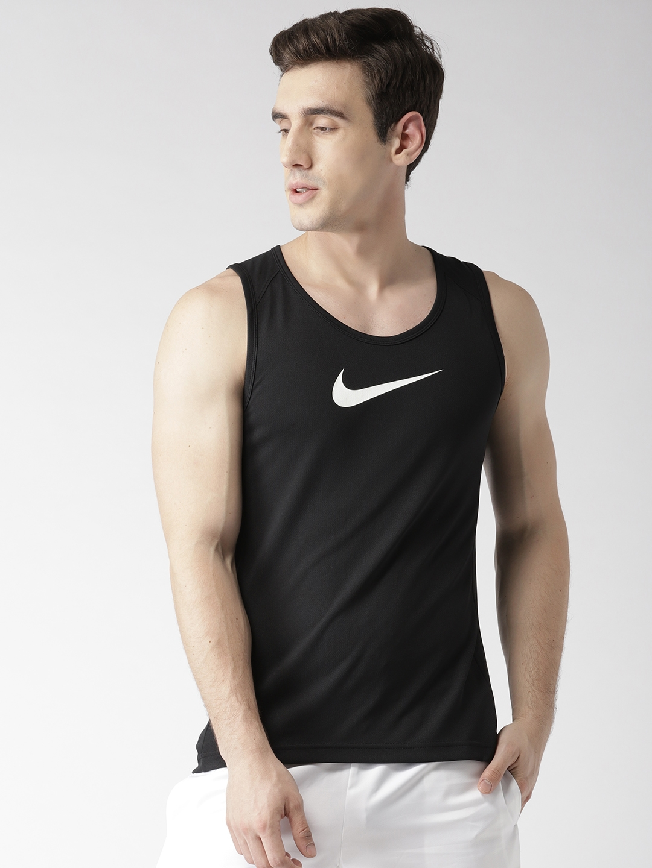 b0e0348da Buy Nike Men Black AS DRY SL Crossover Solid Basketball T Shirt ...