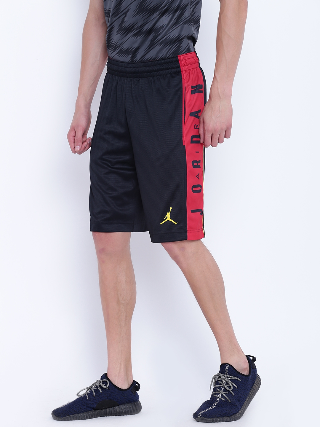 f7f7ed07d7bba4 Buy Nike Black Solid Rise Graphic Basketball Shorts - Shorts for Men ...