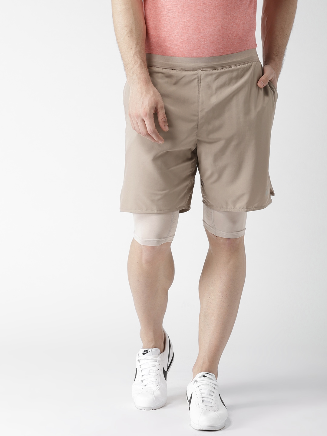 044bd25318fe Buy Nike Men Taupe AS Flex Stride 2 In 1 Running Shorts - Shorts for ...