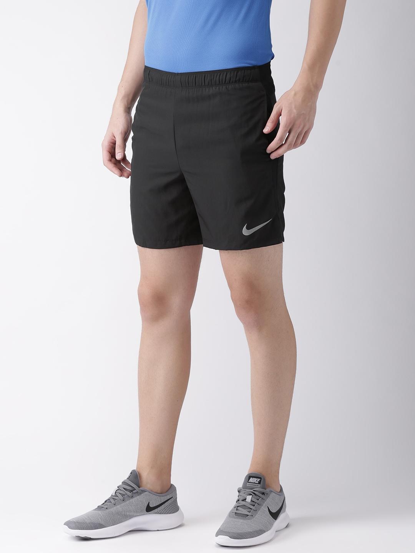 0c58e46e31b Buy Nike Men Black Solid Standard Fit CHLLGR Sports Shorts - Shorts ...