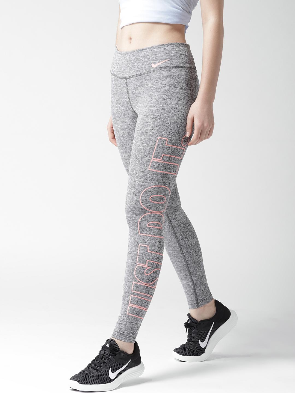 04ef23edd0b5c Buy Nike Women Grey Melange AS Power POLY JDI GRX Training Tights ...