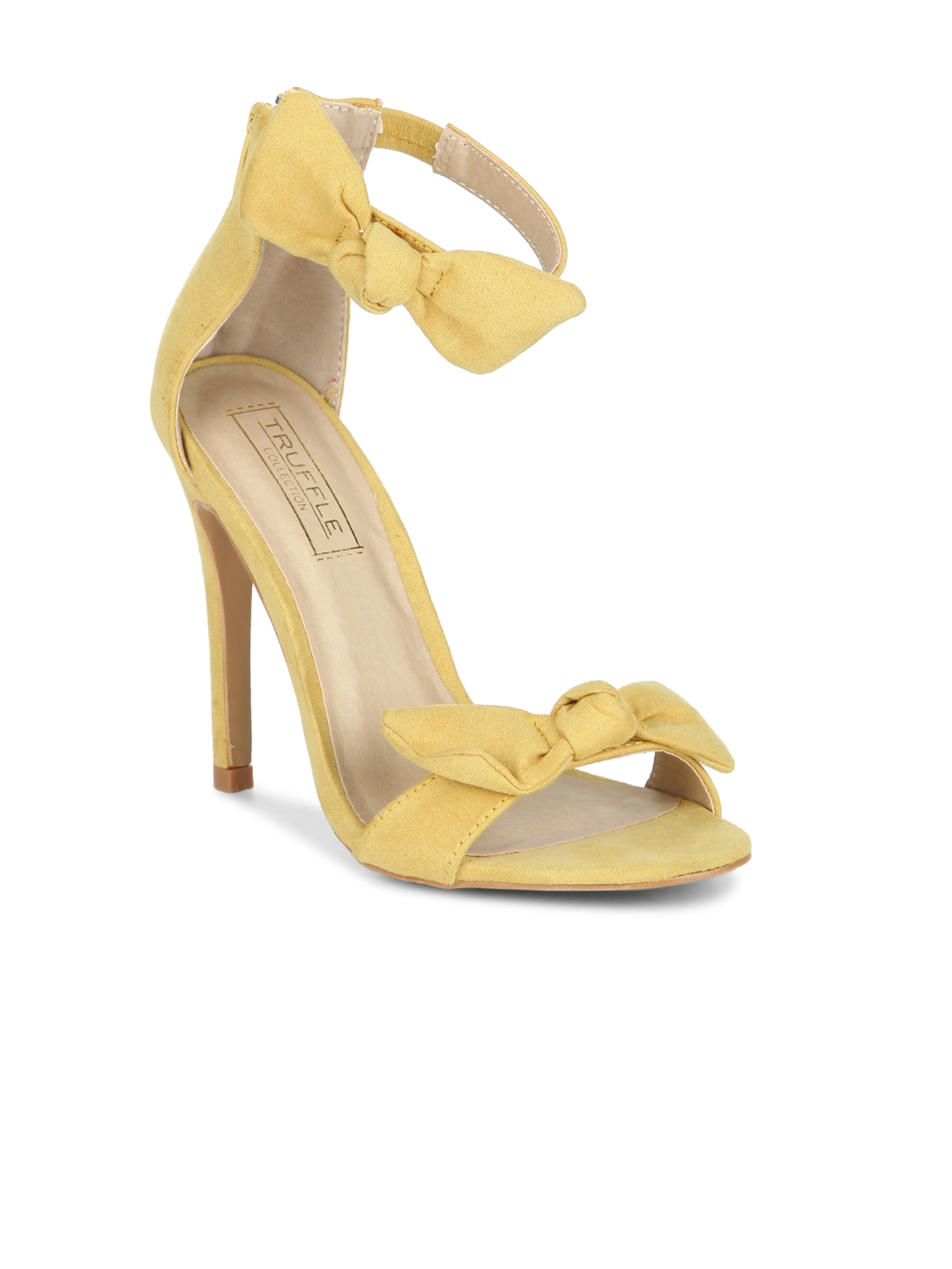 e7b3bf7323c Truffle Collection Women Yellow Solid Sandals