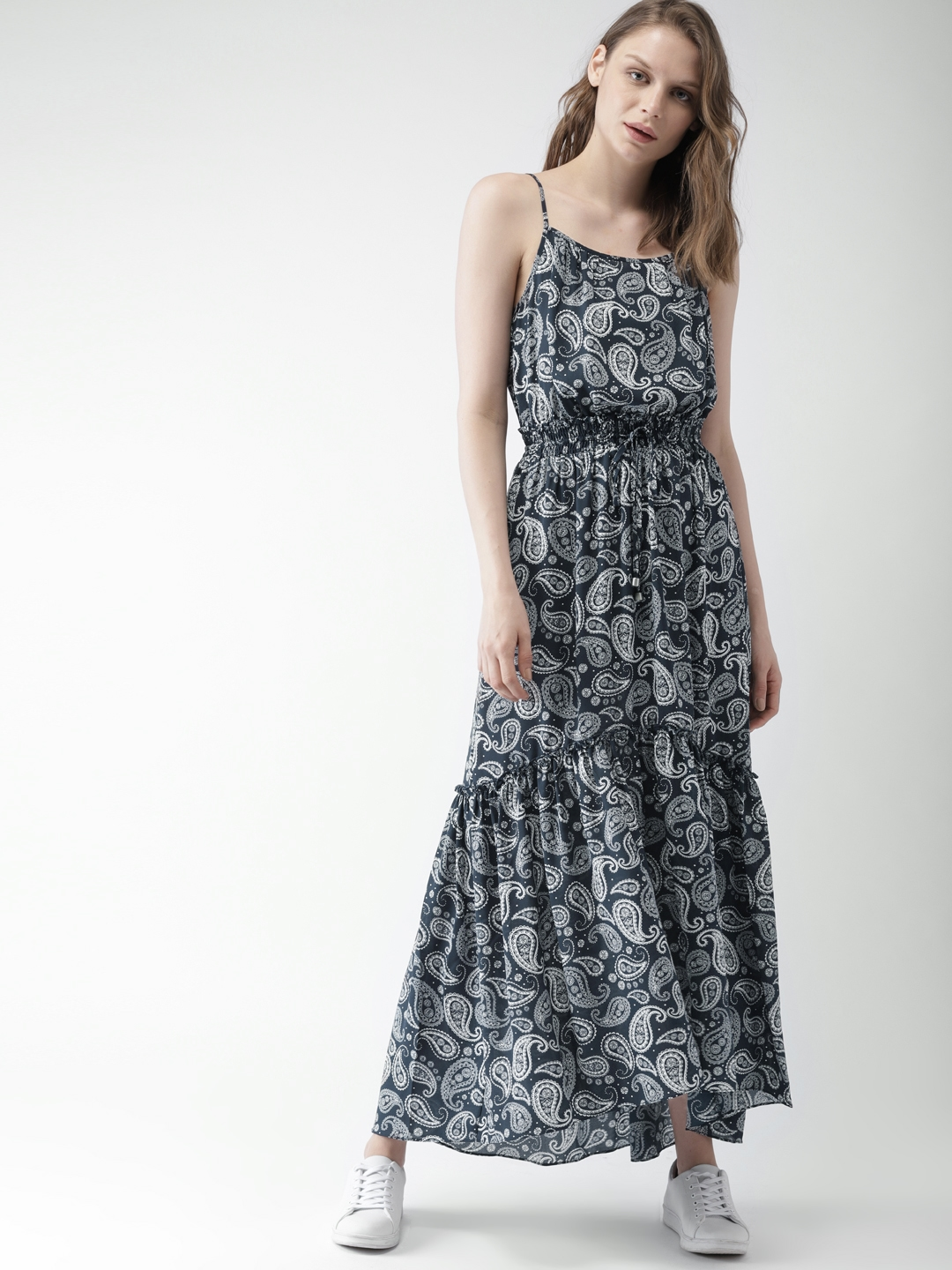 66d6c2f7807 Buy Tommy Hilfiger Women Navy Printed Maxi Dress - Dresses for Women ...