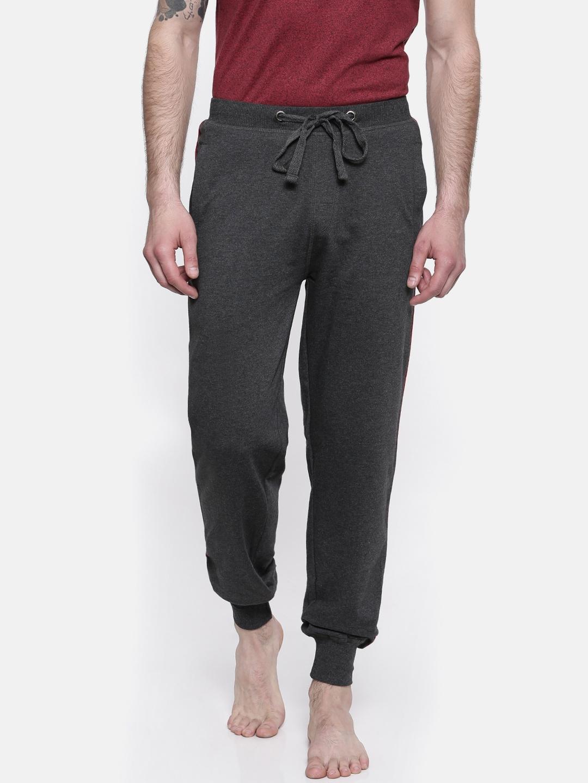 07784a9025e6b5 Buy Park Avenue Men Charcoal Grey Joggers - Track Pants for Men ...